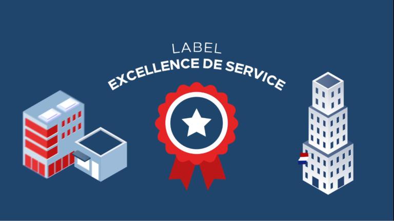 Illustration article Label Excellence de Service